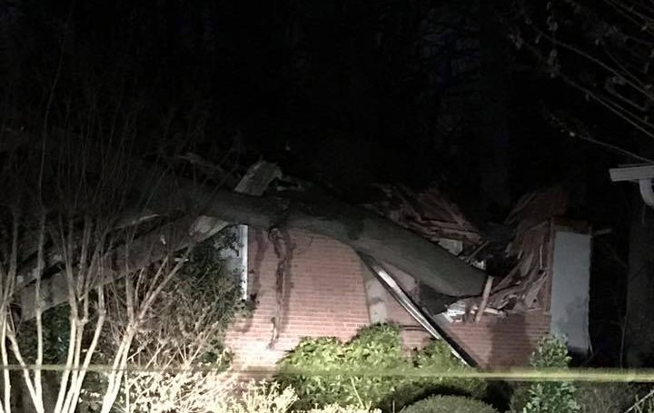 100-Year-Old Woman Rescued From House Damaged By Fallen Tree